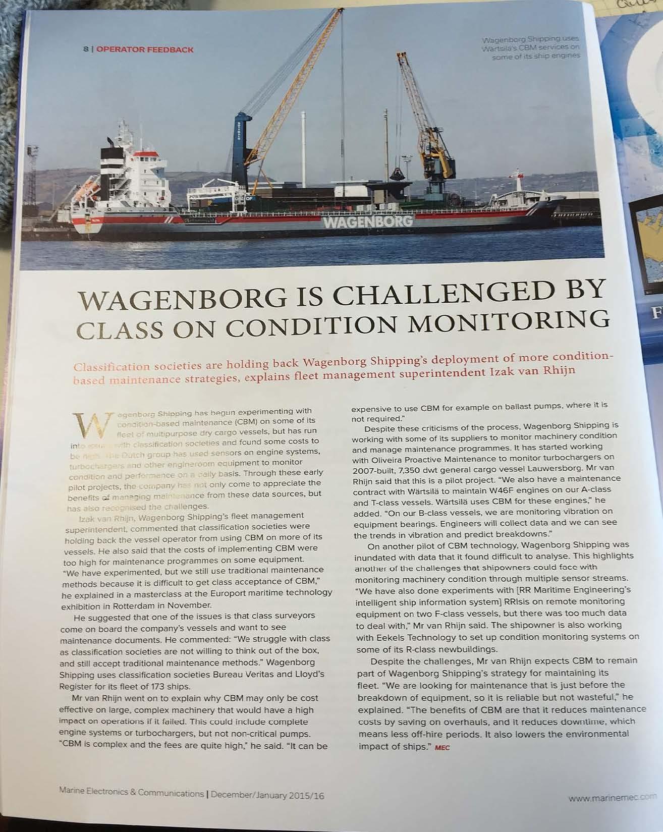 CBM criticism Wagenborg
